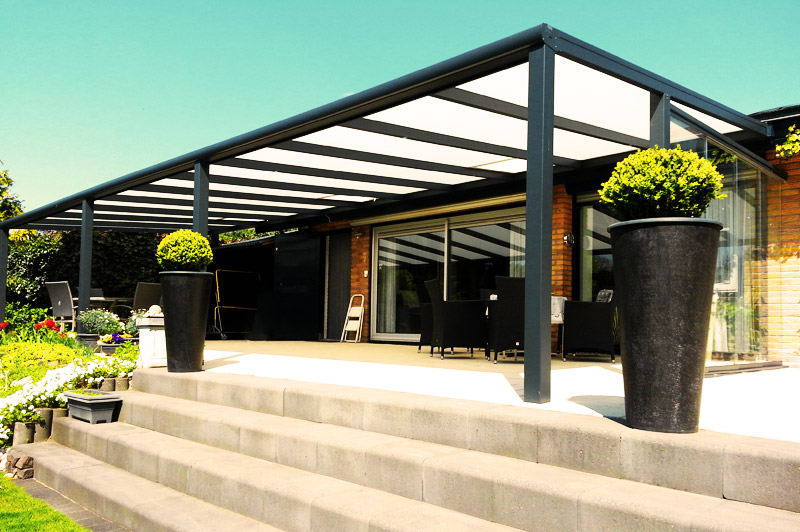 veranda bouwpakket aluminium 400x350 jouw tuin specialist. Black Bedroom Furniture Sets. Home Design Ideas