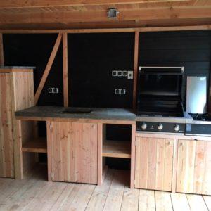 Douglas houten buitenkeuken